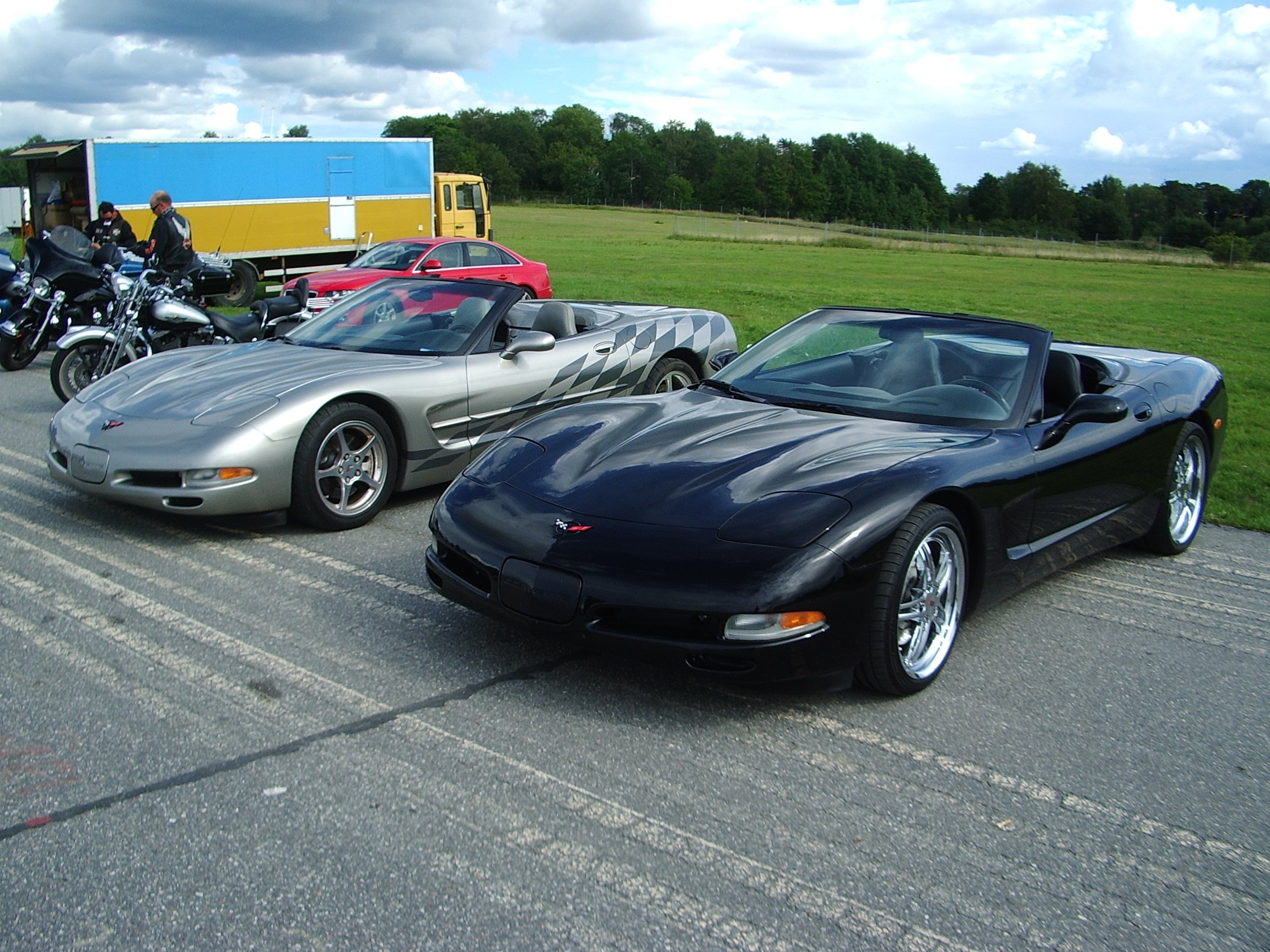 Modern American Muscle Cars At Barkarby (Stockholm And Beyond